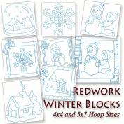 Winter Blocks Colorwork Machine Embroidery Designs on CD
