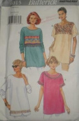 Butterick 4015, Misses Pullover T-shirt Top, Embellishments, Size 18-20-22