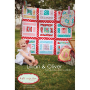 Lillian and Oliver Baby Quilt, Burp Cloth, and Bib Set By Kati Cupcake