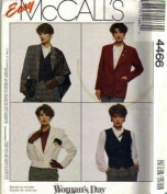 McCall's 4466 Misses Jacket, Vest Sewing Pattern - Size C