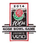 2014 Vizio Rose Bowl Game in Pasadena Jersey Patch