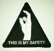 THIS IS MY SAFETY Military Tacitcal hook and loop Morale Patch black hawk down movie