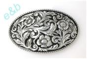 Brand:e & b Chased Engraved Enamelled Western Style Scene Belt Buckle Wt-097bk