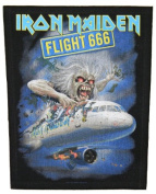 XLG Iron Maiden Flight 666 Woven Back Jacket Patch