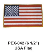 15cm - 1.3cm Embroidered Military Extra Large Patch USA Flag