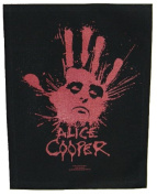 XLG Alice Cooper Splatter Hand Rock Music Woven Back Jacket Patch