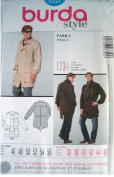 MENS PARKA SIZES 36-38-40-42-44-46 BURDA STYLE PATTERN 7358 RATED AVERAGE DIFFICULTY