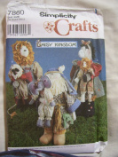 Simplicity Crafts Pattern 7860 Daisy Kingdom Zebra Lion Lamb Elephant