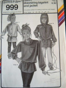 Stretch & Sew Pattern 999 ~ Children's Drawstring Bigshirt and Jacket ~ 50cm - 80cm Chest
