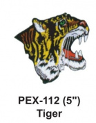 13cm Embroidered Animal Patch Tiger