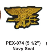 13cm - 1.3cm Embroidered Military Extra Large Patch Navy Seal