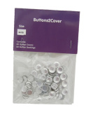50 Buttons2Cover Cover Buttons Size 20 (1.3cm ) Flat Backs