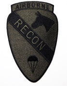 Airborne Patches (Recon)military US Army Patches 9x14 Cm Iron on Patch / Embroidered Patch This Appliques Are Great for T-shirt, Hat, Jean ,Jacket, Backpacks.