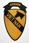 Airborne Patches (Viet Nam)military Us Army Patches 9x15.5 Cm Iron on Patch / Embroidered Patch This Appliques Are Great for T-shirt, Hat, Jean ,Jacket, Backpacks.