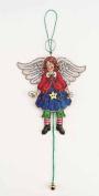 Angel Jumping Jack Cross Stitch Ornament