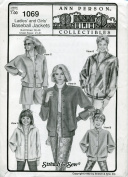 Ann Person Collectibles Stretch & Sew Pattern 1069 ~ Ladies' and Girls' Baseball Jackets