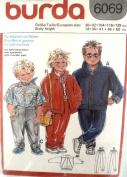 Burda# 6069 Boys & Girls Shirt, Jacket & Pants Pattern 34, 36, 41, 46, & 130cm .
