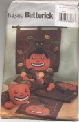 Butterick Halloween Fall Pumpkin Centrepiece, Runner, Wall Hanging, Black Cat Sewing Pattern B4309