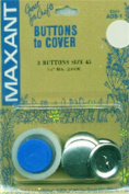 Maxant Cover Buttons With Tool-Size 45 2.9cm 3/Pkg