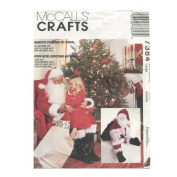 McCalls 7384 Santa Claus Costume Bag Doll Sewing Pattern Size Large