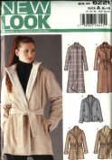 New Look Sewing Pattern 6221 Misses' Size 8-18 Lined Button Front Coat Jacket Belt