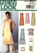 New Look Sewing Pattern 6247 Misses Size 6-16 Formal Fitted Dress Bias Top Camisole