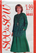 See & Sew Pattern 5032 ~ Misses' Petite Top & Skirt ~ Sizes 6-14