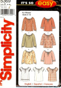 Simplicity 5369 Misses Tops