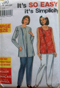 Simplicity 7690 Misses' Plus Jacket, Shell and Pants, Size 20W-22W-24W-26W-28W-30W