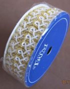 "The Trim Shop Metallic Gold & White ""Looped"" Trim Cord"