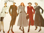 Uncut Vogue Basic Design Sewing Pattern 1237 Misses' Flared or Fitted Double Breasted Coat Dress or Jacket Top and Pencil Skirt Size 6-8-10