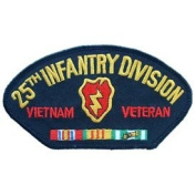 US Military Vietnam War Iron On Patch - US Army - 25th Infantry Division Veteran Logo