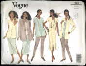 Vogue Sewing Pattern 1122 Misses' Petite Jacket, Dress, Top, Skirt & Pants