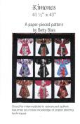 Kimonos Quilt Pattern, Embellishment Village, Paper Pieced 110cm by 110cm Fat Quarter Friendly