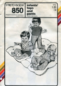 Stretch & Sew Pattern 850 ~ Infant Tops & Pants 1-18 Months