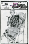 Ann Person Collectibles Stretch & Sew Pattern 4066 ~ Patchwork Vest & Skirt ~ Bust 30-46