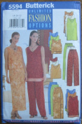 Butterick Pattern 5594 Misses' Top, Skirt and Pants Size 18-20-22