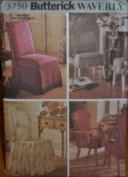 Butterick Waverly 3750 Chair Covers with Variations