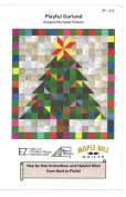 Playful Garland Quilt Pattern, Maple Hill Quilts 80cm x 90cm Great for Beginners