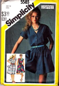 Simplicity sewing pattern 5583 misses' dress & culotte dresses in 2 lengths