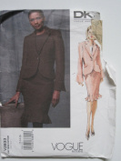 Vogue Pattern 2833 American Designer DKNY Misses'/Misses' Petite Jacket and Skirt Sizes 12-14-16
