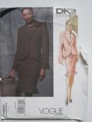 Vogue Pattern 2833 American Designer DKNY Misses'/Misses' Petite Jacket and Skirt Sizes 12-14-16