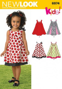 New Look Sewing Pattern 6974 Toddlers' Dresses, Size A