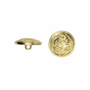 C & C Metal Products 5026 Duelling Knights Metal Button, Size 36 Ligne, Gold, 36-Pack