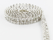 Sparkles Make It Special 2 Row Crystal Rhinestone Ribbon Wedding Cake Banding 1 yard