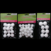50 Foam Polystyrene Art Craft Styro White Balls Project Styrofoam 1.9cm 2.5cm 3.8cm
