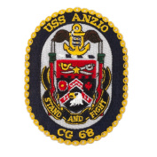 Scalloped Edge USS Patches - USS Anzio W01S49C