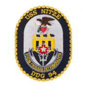 Scalloped Edge USS Patches - USS Nitze W01S49C