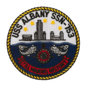 USS Cities Patches - USS Albany W01S49A