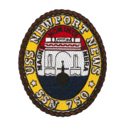USS Cities Patches - USS Newport News W01S49A